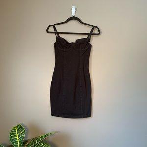 Black American Apparel Bustier Dress